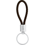 Vegan Leather Twist Key Ring